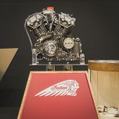 Indian Motorbike Engine On Display At Eicma 2014 In Milan, Italy