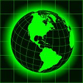 picture of north-pole  - Green North America map - JPG