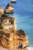 Cliff and beach - Ponta de Piedade, Portugal