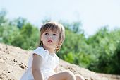 Image of adorable young girl in park