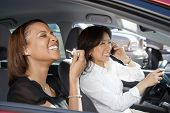 Laughing Women in Car