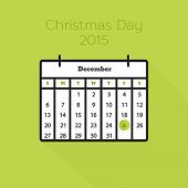 Flat holiday calendar icon