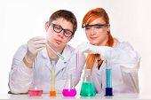 Chemist students in labolatory