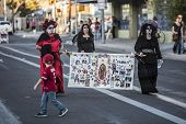Three Women In Dia De Los Muertos Procession