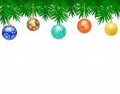 Border from Christmas balls