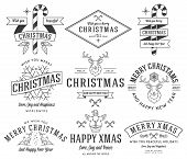 picture of rudolph  - Vector christmas badges and labels for any use - JPG