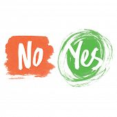 stock photo of yes  - Yes and No icons - JPG