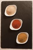 image of garam masala  - three different types of spices from India - JPG