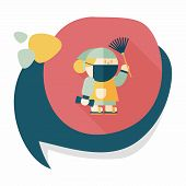 picture of ou  - Chinese New Year Flat Icon With Long Shadow - JPG