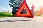 stock photo of car carrier  - Caution  - JPG