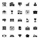 stock photo of asset  - Asset and property icons on white background stock vector - JPG