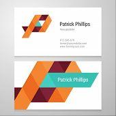 foto of letter p  - Modern letter P Business card template - JPG