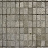 foto of paving stone  - Tiled with paving stone bricks path - JPG