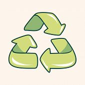 stock photo of environmental protection  - Environmental protection concept theme elements Doing recycle to protect our environment - JPG
