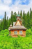 image of log cabin  - Photo of a Old log cabin in a wood - JPG