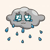 pic of rainy weather  - weather rainy day theme elements - JPG