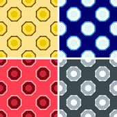 pic of octagon  - seamless colored octagon pattern set in different colors - JPG