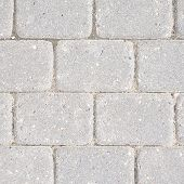 image of paving stone  - Stone tile floor paving fragment as an abstract background composition - JPG