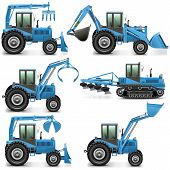 picture of tractor  - Agricultural Tractor Set 3 - JPG