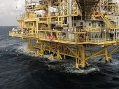picture of offshore  - oil and gas construction in offshore for production - JPG