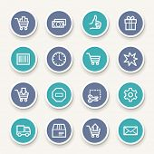 stock photo of truck-stop  - Shopping web icons - JPG