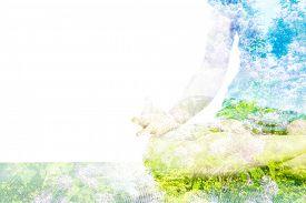 foto of ashtanga vinyasa yoga  - Nature harmony healthy lifestyle concept  - JPG
