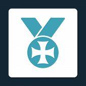 stock photo of maltese-cross  - Maltese medal icon from Award Buttons OverColor Set - JPG