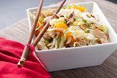 image of mandarin orange  - chicken and mandarin orange summer salad with toasted almonds - JPG