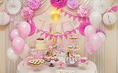 pic of buffet  - Delicious sweet holiday buffet with cupcakes - JPG