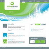 Web site design template 5, vector