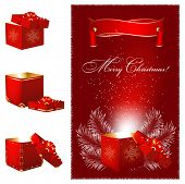 Magic Christmas gift box.