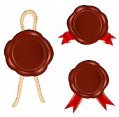 picture of wax seal  - Vector - JPG