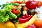 stock photo of vegetable food fruit  - Vegetarian food - JPG