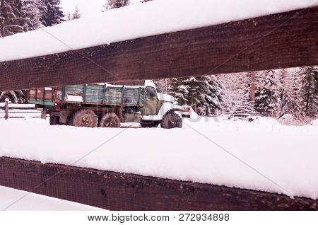Soviet Car Behind The Fence
