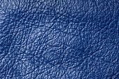 Dark Blue Leather For Concept And Idea Style Of Fine Leather Crafting, Handcrafts Work Space, Handma poster