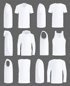 White T-shirt, Shirt Or Tank Top And Sport Hoodie Mockup Models. Isolated Blank 3d Realistic Casual  poster