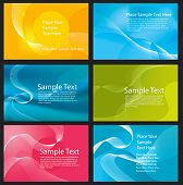 Set of colorful vector abstract background