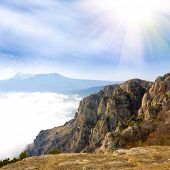 stock photo of rocky-mountains  - Mountain Landscape from Crimea - JPG