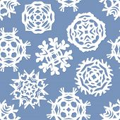 Christmas Seamless Pattern. Paper Craft Design, Cut Out By Scissors From Paper. Vector Craft Illustr poster