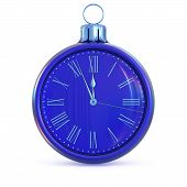 Time New Years Day 12 Clock Face Blue Midnight Last Hour Deadline poster