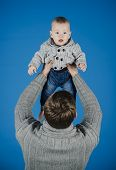My Dad Is My Best Mate. Father And Son. Handsome Man With Little Child. Father And Child. Family Rel poster