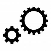 Gear Icon. Simple Illustration Of Gear Icon For Web Design Isolated On White Background poster