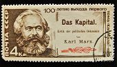 USSR - CIRCA 1980s: A Stamp printed in the USSR shows portrait of the great Russian materialist phi