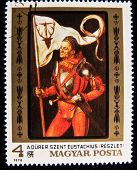 HUNGARY - CIRCA 1978: A stamp printed in Hungary shows Paintings by Albrecht Durer, circa 1978 Serie
