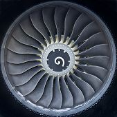 pic of rotor plane  - Turboprop aircraft engine closeup shot - JPG