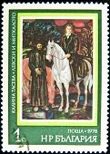 BULGARIA - CIRCA 1978: A stamp printed in Bulgaria shows paint by artist Kalina Taseva, circa 1978