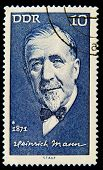GDR - CIRCA 1971: A stamp printed in GDR (East Germany) shows Heinrich Mann, circa 1971