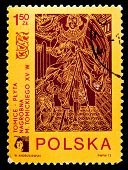 POLAND - CIRCA 1973: a stamp printed in Poland shows Medieval gravestone. Poland, circa 1973