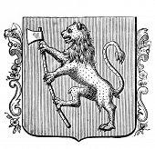 alte Abbildung zeigt Wappen der norwegischen Königreich. ursprünglichen, von Alwin Zschiesche geschaffen,