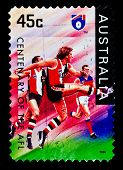 AUSTRALIA - CIRCA 1996: stamp printed by Australia, shows rugby, circa 1996